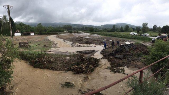 Izlivanje reke u opštini Knić