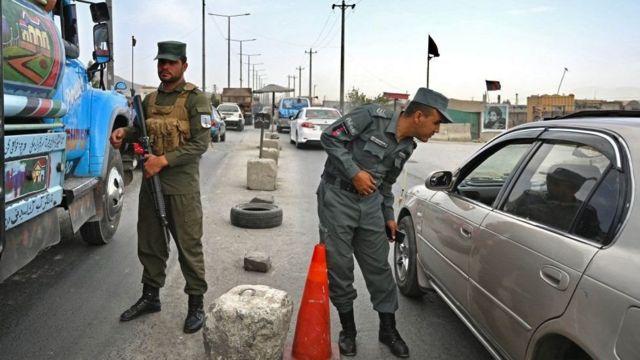 काबुलमा अफगान प्रहरी