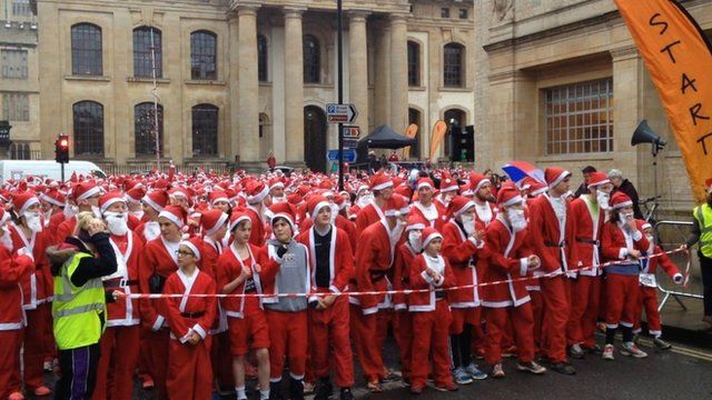 Oxford Santa run