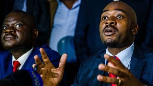 Nelson Chamisa, vice-président du parti, est désormais le président par intérim du MDC