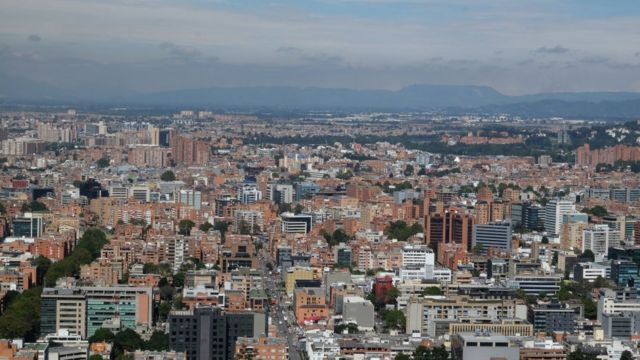 Vista de Bogotá, capital de Colombia.