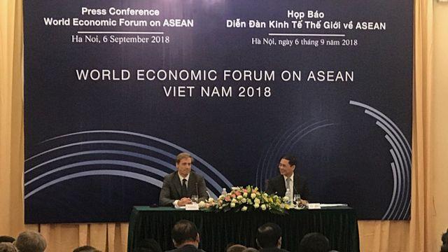 Họp báo Diễn đàn Kinh tế Thế giới (WEF) về ASEAN tại Hà Nội