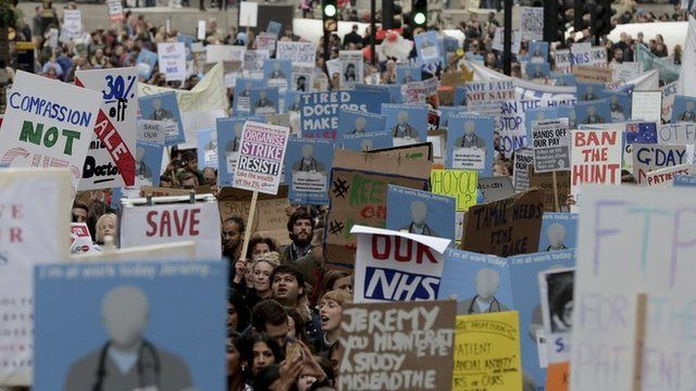 Demonstration against planned NHS changes