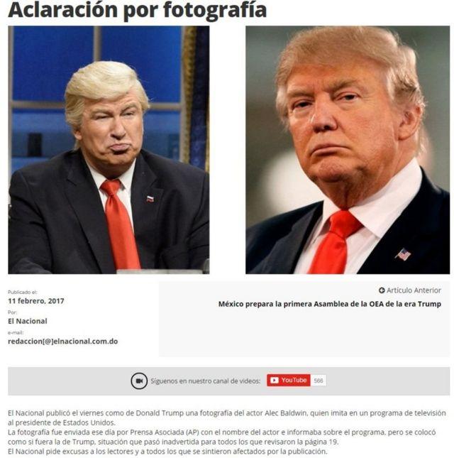 صحيفة في الدومينيكان تنشر صورة مزيفة لترامب من مشهد تمثيلي لأليك بولدوين