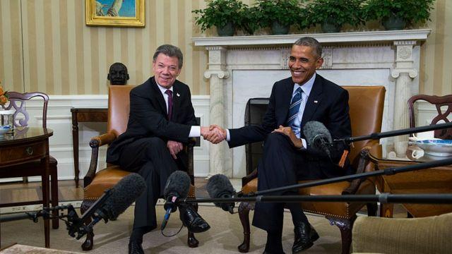 Juan Manuel Santos, Barack Obama