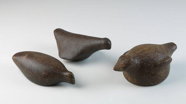 Artefato sambaqui que estava no Museu Nacional