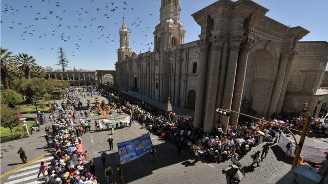 Plaza central de Arequipa