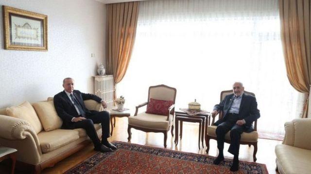 Cumhurbaşkanı Recep Tayyip Erdoğan ve SP Yüksek İstilare Kurulu Üyesi Oğuzhan Asiltürk