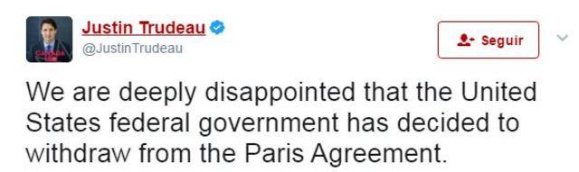 Tuit Justin Trudeau