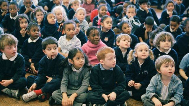 Children in a UK school