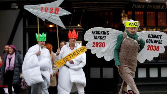 วิเวียน เวสต์วูด ต่อต้าน shale gas