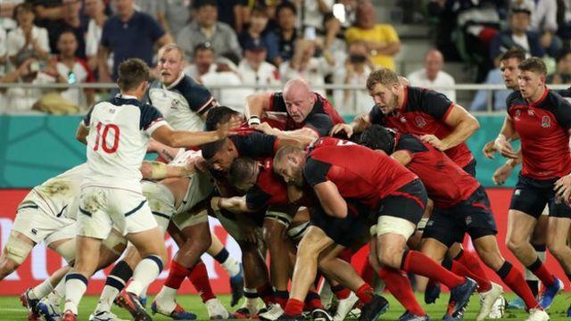 England's rolling maul