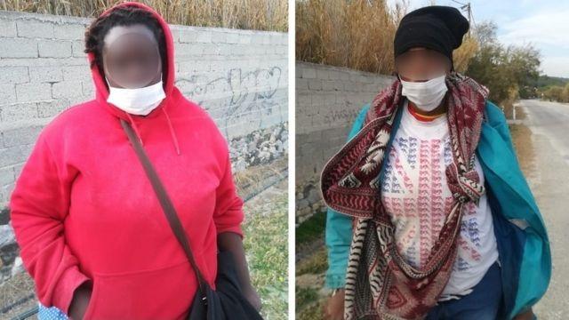Deux femmes migrantes à Lesbos