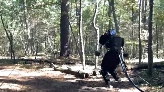 Atlas robot in forest