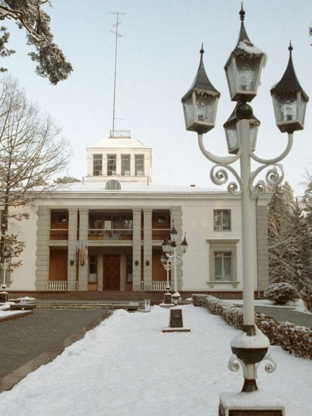 بلاوژسکایا پوشاچا، مکان امضای معاهده