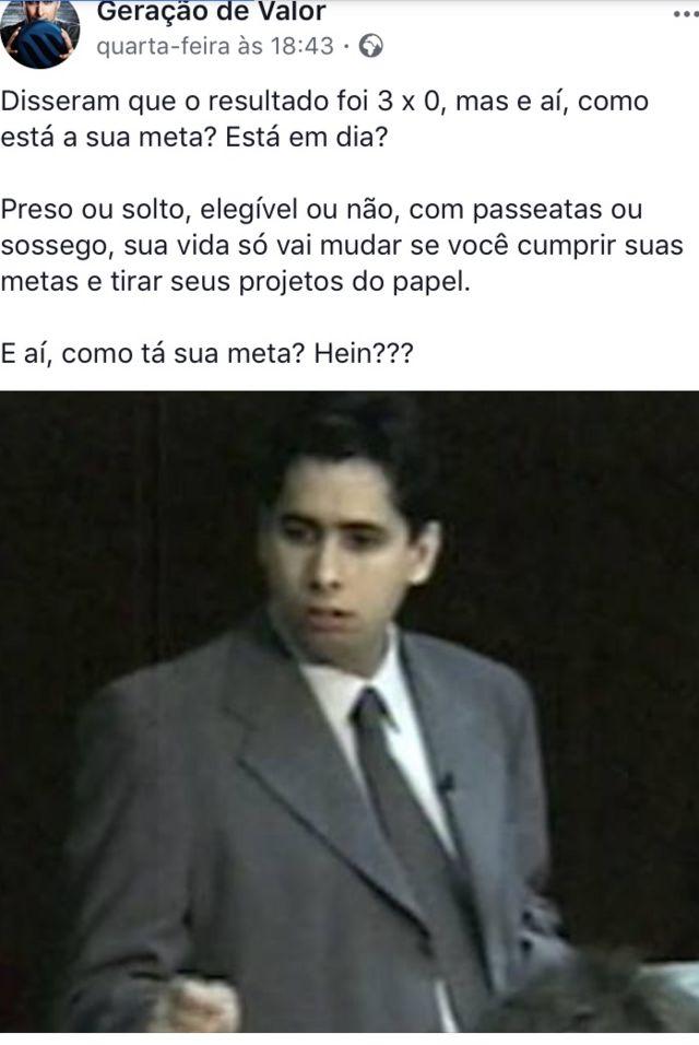Postagem em que o empresário Flávio Augusto da Silva comenta julgamento do ex-presidente Lula