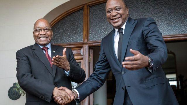 Ramaphosa ati Zuma bọ ara lọwọ