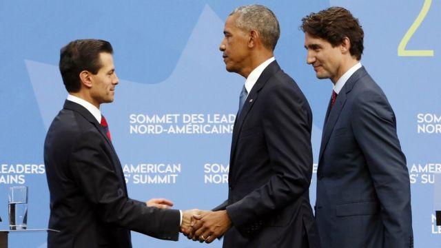 Президент Обама находится в Оттаве, на саммите лидеров США, Канады и Мексики