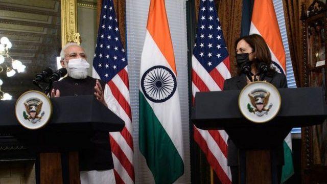 భారత ప్రధాని మోదీ, అమెరికా ఉపాధ్యక్షురాలు కమలా హారిస్