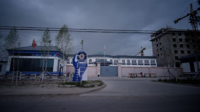 A camp holding Muslims in Xinjiang. (nb: NOT a camp identified in the Karakax List)