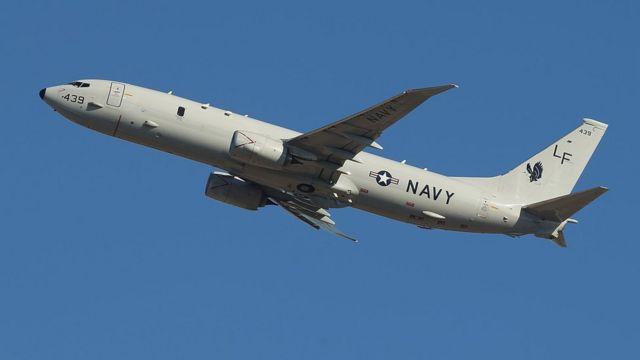 米海軍機P8ポセイドン