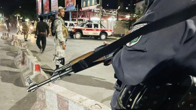 Афганские силы безопасности на месте происшествия