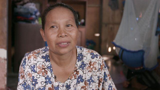 Ajarni at home Jumadil grandmother