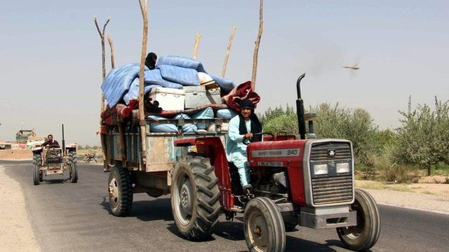Thousands have been displaced in recent fighting in Helmand