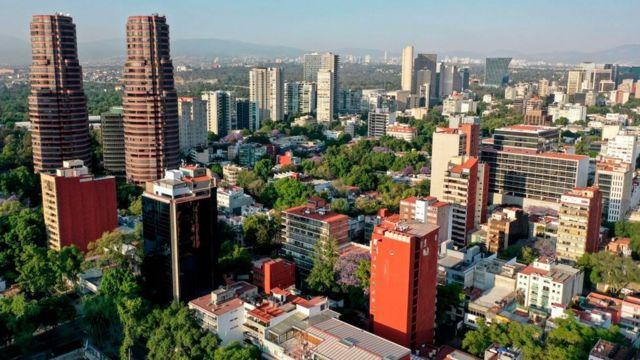 Vista aérea de Polanco, Ciudad de México
