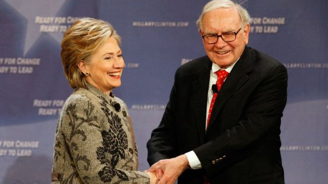 Hillary Clinton y Warren Buffet.