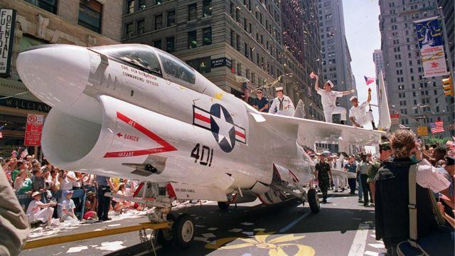 Desfile militar en EE.UU. en 1991.