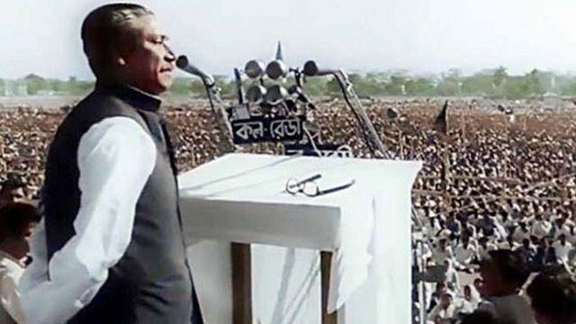 সাতই মার্চ তৎকালীন রেসকোর্স ময়দানে শেখ মুজিবুর রহমানের ভাষণ