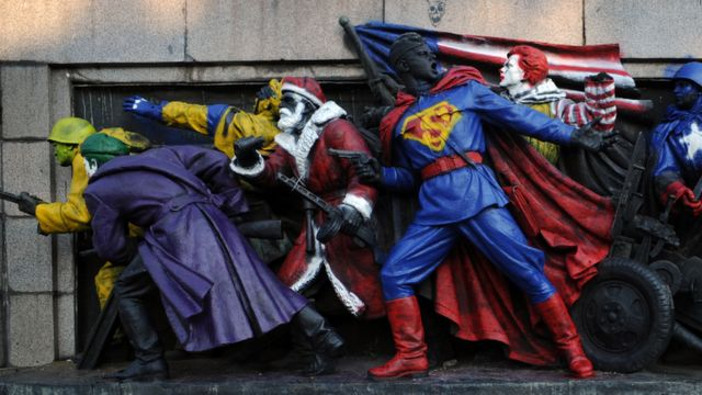 Američki likovi, spomenik, 2011.