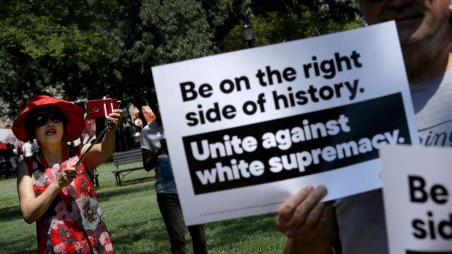 Marcha de solidaridad con El Paso, Texas, en Washington DC el 6 de agosto de 2019