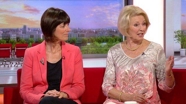 Dr Ann Hoskins, Public Health England, and cancer survivor Diana Moran