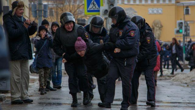 задержания в Петербурге