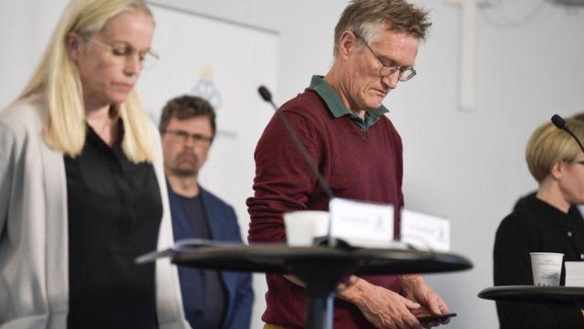 El epidemiólogo sueco Anders Tegnell en su conferencia de prensa diaria para informar sobre el covid-19. 27 de mayo de 2020.
