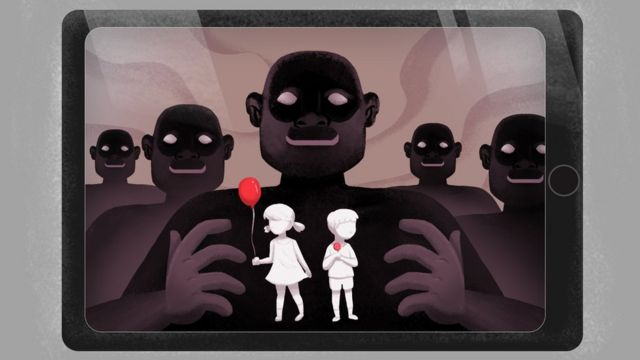 Imagen que ilustra el abuso infantil online