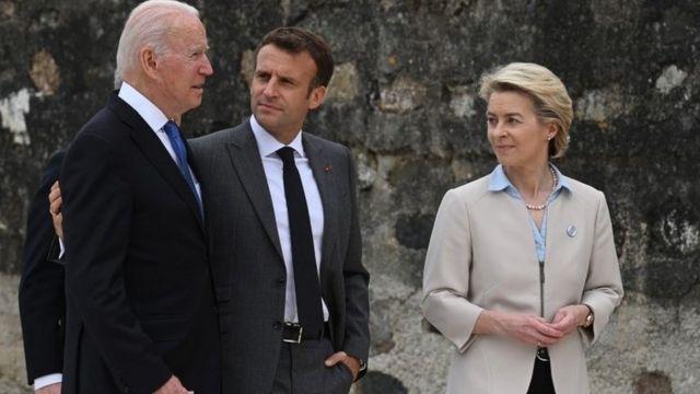 Biden iyo Macron