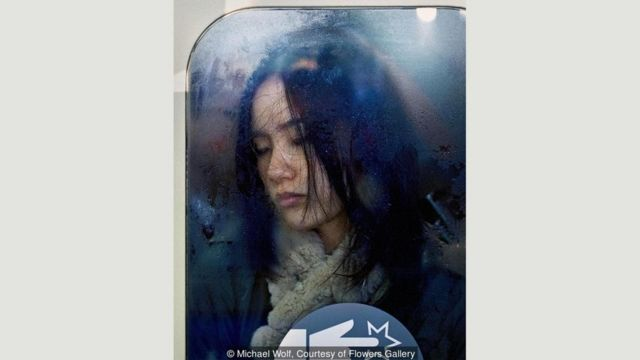 Passageira no metrô