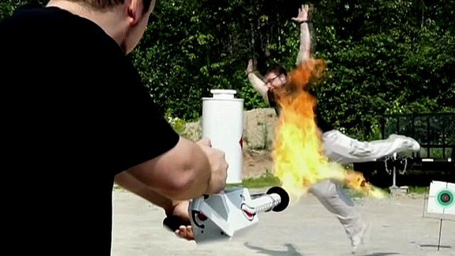 """Ion Productions describe their flamethrower as """"cool"""" and """"awesome"""""""