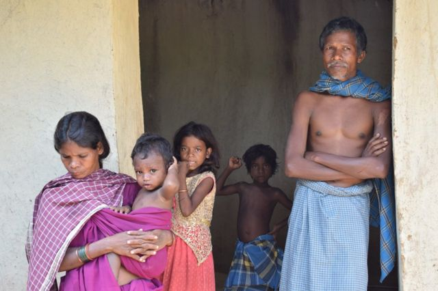 समारू बैगा का परिवार