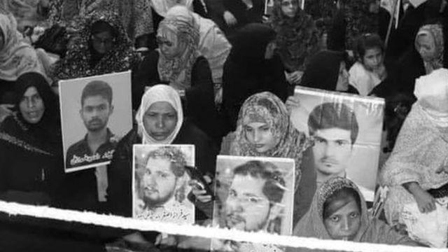لاپتہ شیعہ افراد کے لیے دھرنا