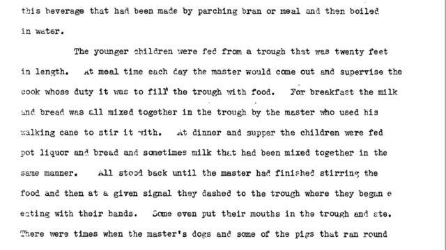 Imagem do manuscrito original com o relato de George Womble