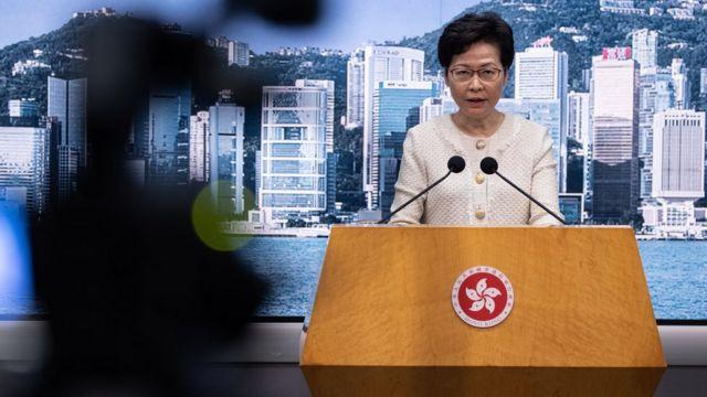 林鄭月娥說,只要網上言論不會違反四項國家安全罪行,當局不會使用有關措施。