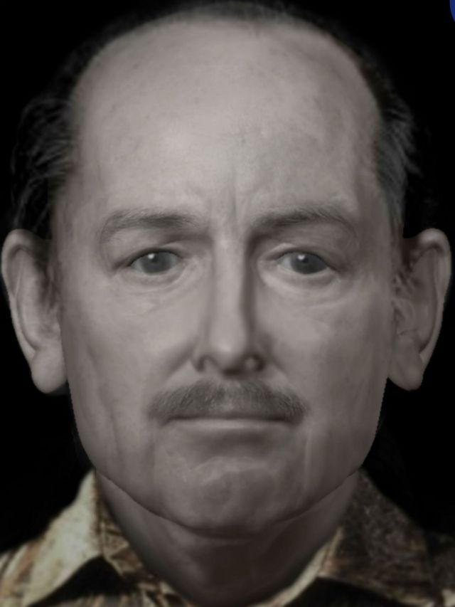 Reconstrucción del rostro de un hombre que fue asesinado en 1991