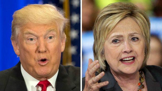 Donald Trump, Hillary Clinton, guns