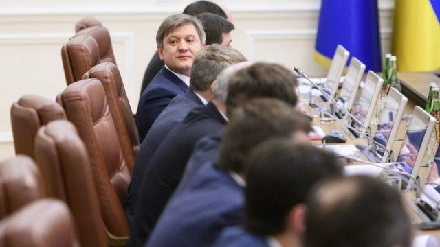 Олександр Данилюк під час засідання уряду, березень 2018 року