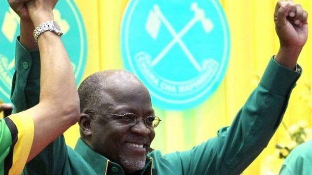 Perezida John Magufuli wa Tanzaniy