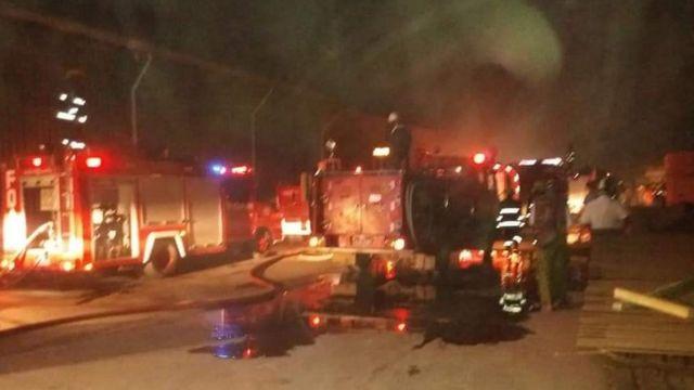 ရွှေပြည်သာ အထပ်သားစက်ရုံ မီးလောင်လို့ ၁၂ ဦး ဒဏ်ရာရ